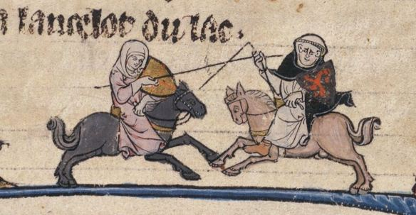 Beinecke MS 229 100v, a French Arthurian romance from 1275-1300