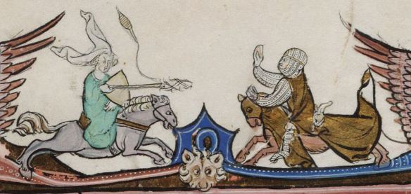 Beinecke MS 229 329r, a French Arthurian romance from 1275-1300