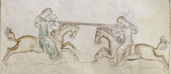 Royal 2 B VII   f. 197v   Women jousting